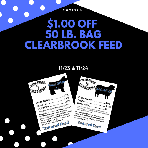 Any Clearbrook Feed $1.00 OFF
