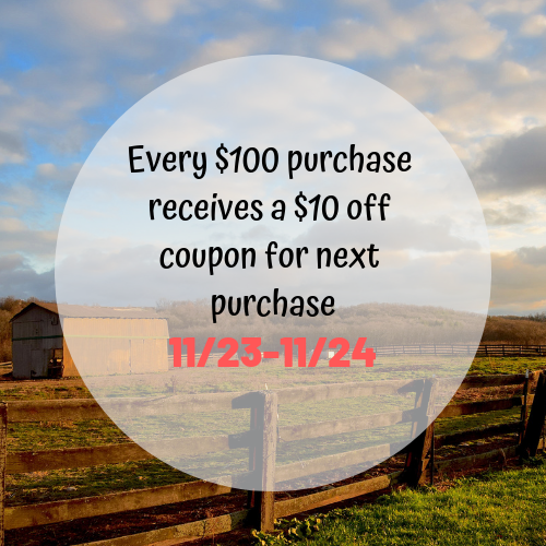 Every $100 purchase receives a $10 off coupon