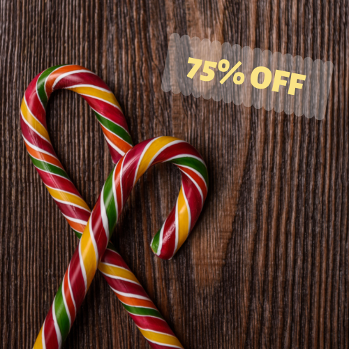 75% OFF Christmas  Candy