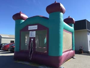 15 x 15 Purple & Teal Enchanted Castle Bounce House