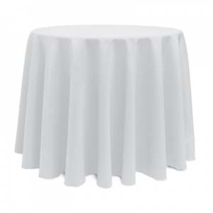 White Polyester Tablecloth, 108