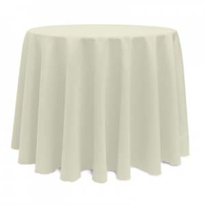 Ivory Polyester Tablecloth, 108