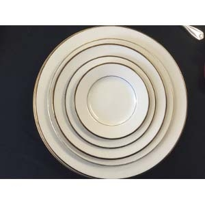 Ivory with Gold Rim Dinnerware Collection