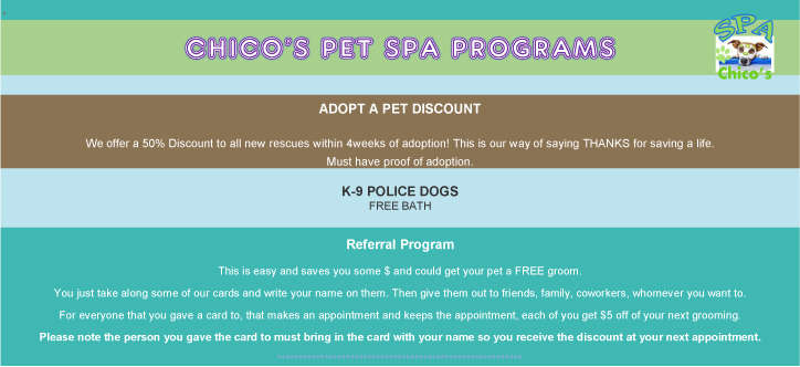 Chico's spa program