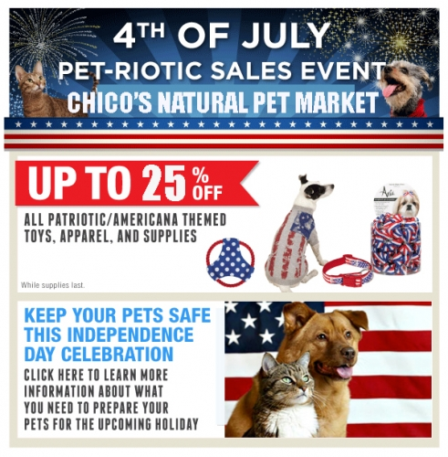 Pet-riotic Sales Event!