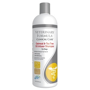 Synergy Labs Veterinary Formula Clinical Care Oatmeal & Tea Tree Oil Infuser Shampoo, 16 oz.