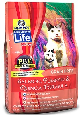 Lucy Pet Salmon, Pumpkin and Quinoa Formula Cat Food