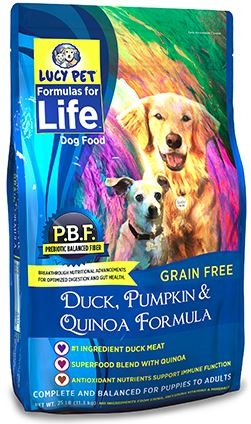 Lucy Pet Duck, Pumpkin and Quinoa Formula Dog Food