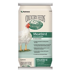 Country Feeds® Meatbird 22% Crumbles 50lb