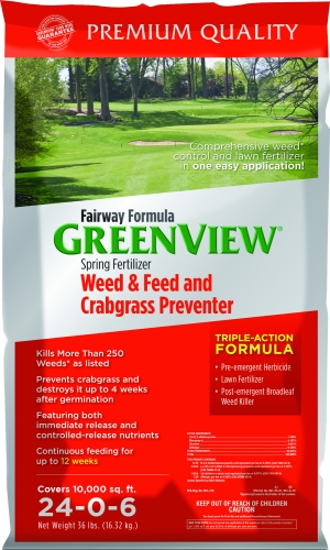 GreenView Fairway Formula Spring Fertilizer Weed & Feed and Crabgrass Preventer 10,000 sq ft