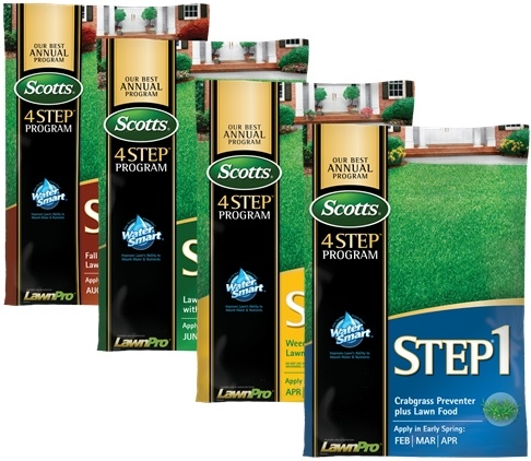 Scotts 4 Step Annual Lawn Care Program