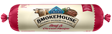 BLUE Smokehouse™ Gourmet Sausages Beef & Carrot Meat Rolls for Dogs