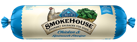 BLUE Smokehouse™ Gourmet Sausages Chicken & Spinach Meat Rolls for Dogs