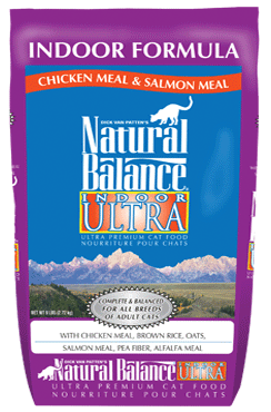 Natural Balance Indoor Ultra Chicken Meal & Salmon Meal Dry Cat Formula