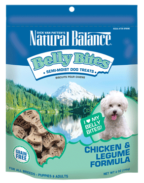 Natural Balance Belly Bites™ Chicken & Legume Semi-Moist Treats 6oz