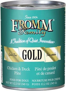 Fromm Family Gold Chicken & Duck Pate Food for Dogs 12.2oz