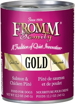 Fromm Family Gold Salmon & Chicken Pate Food for Dogs 12.2oz