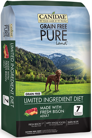CANIDAE® Grain Free PURE Land® Dog Dry Formula with Fresh Bison 24lb