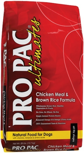 PRO PAC Ultimates Chicken Meal & Brown Rice Formula Dog Food