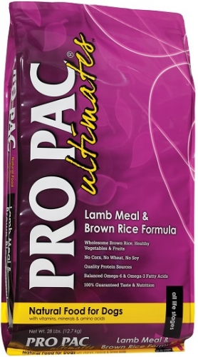 PRO PAC Ultimates Lamb Meal & Brown Rice Formula Dog Food