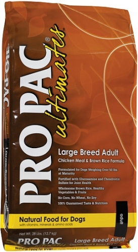 PRO PAC Ultimates Large Breed Adult Chicken Meal & Brown Rice Formula Dog Food