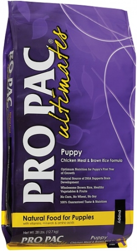 PRO PAC Ultimates Puppy Chicken Meal & Brown Rice Formula Dog Food