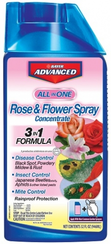 Bayer All-In-One Rose & Flower Spray 32oz Concentrate