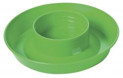 1 Quart Screw-On Poultry Waterer Base Lime Green