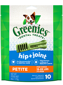 GREENIES Hip & Joint Petite Dog Dental Treats