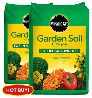 Miracle Gro Garden Soil 1CF: 4 for $10