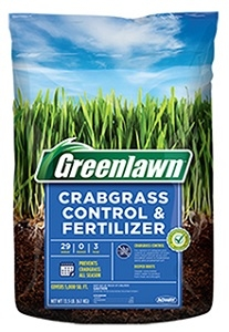 Greenlawn Crabgrass Control & Fertilizer 29-0-3