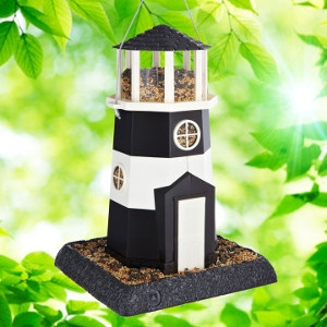 North States Village Collection Shoreline Lighthouse Birdfeeder