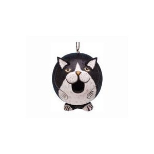 Songbird Essentials Black White Cat Gord O Birdhouse