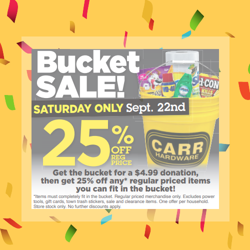Bucket Sale to benefit the Berkshire Humane Society