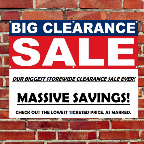 Massive Clearance Sales Event!