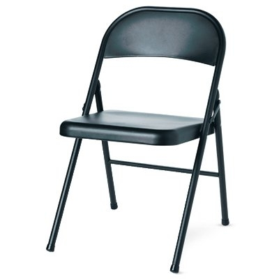 Steel Folding Chair - Black