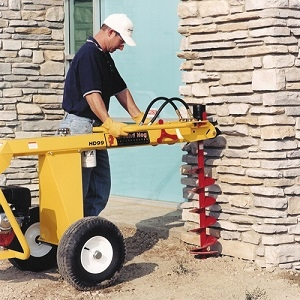 1 man hydraulic towable earth drill