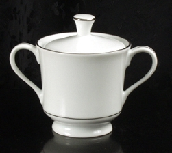 Sugar Bowl (White w/ Silver Trim)