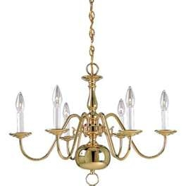 Chandelier - Brass