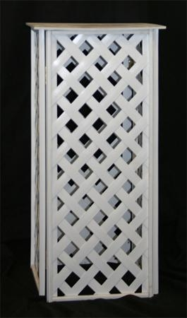 Flower Stand - White Lattice