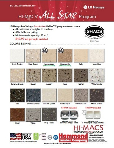HI-MACS®, All Star Program - Kitchen