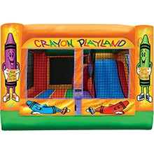 Inflatable - Bouncer combo - Medium 3 in 1 Crayola