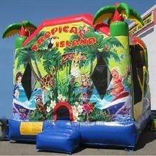 Inflatable - Bouncer combo large - Tropical Island