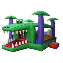 Inflatable - Bouncer combo large Crocodile