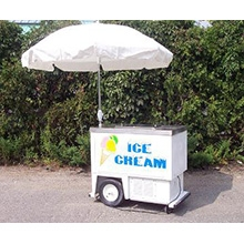 Ice cream cart, electric