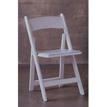 Chair, wood, white
