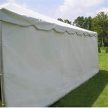 Tent sidewall, white