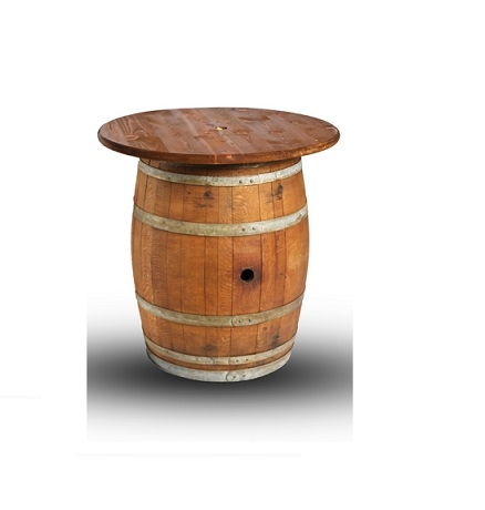 Table, wine barrel