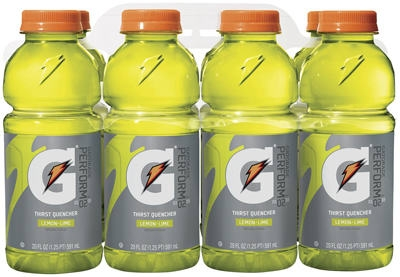 Thirst Quencher Drink, Lemon Lime, 20-oz., 8-Pk.