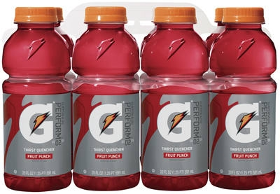 Thirst Quencher Drink, Fruit Punch, 20-oz., 8-Pk.